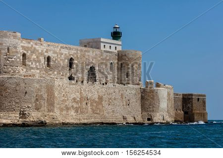 Maniace Castle In Syracuse, Sicily