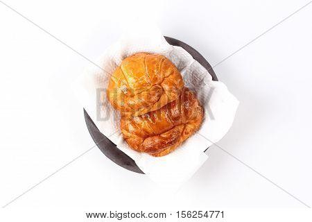 Home Made ,crispy Fresh Margarine Croissant Served.