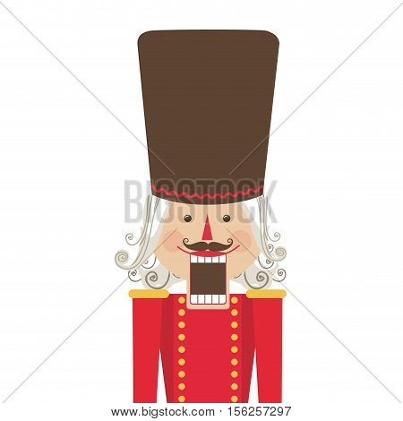 nutcracker toy icon image vector illustration design