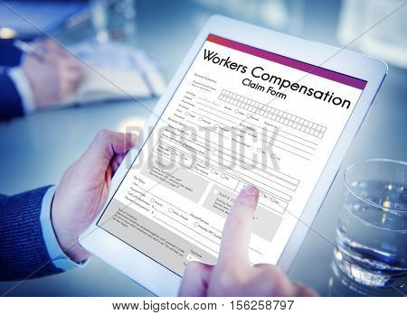Workers Compensation Claim Form Insurance Concept