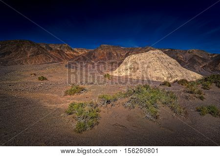 One of few oasis with water and green plants in Death Valley California.