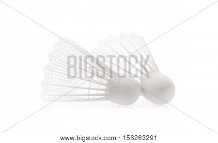Ball badminton isolated on a white background