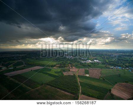 Rain Clouds Before Raining Aerial Photography Nature Rainy Season Lanscape