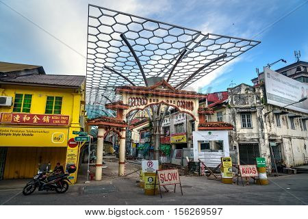 Little India, Market Street In Kuching