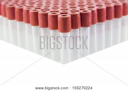 Clot Blood sample tube,Blood collection tube for laboratory isolated on white background(have clipping path)