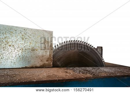 Cnc metal cut machine isolated on white (have clipping path)