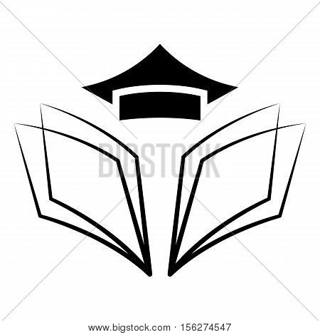 Education logo. Vector illustration in black color. eps 10