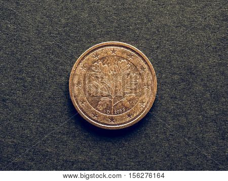 Vintage Two Cent Euro Coin