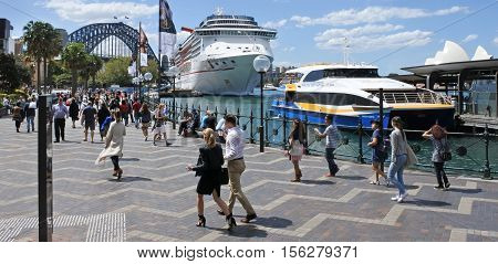 Visitors In Sydney Circular Quay Sydney New South Wales Australia