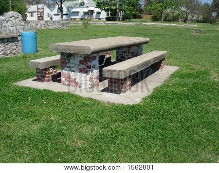 Cememt Brick Picnic Table