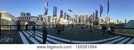 Pyrmont Bridge Darling Harbour Sydney New South Wales Australia