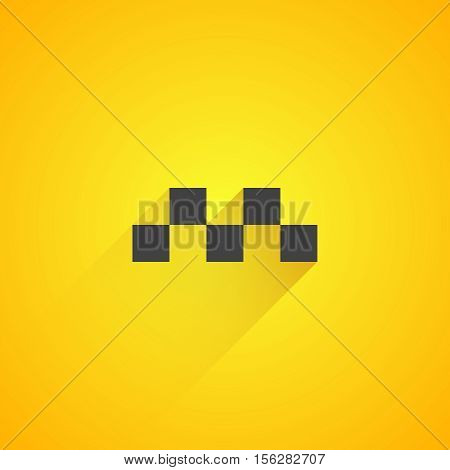 Taxi logo on yellow background. Vector illustration eps 10.