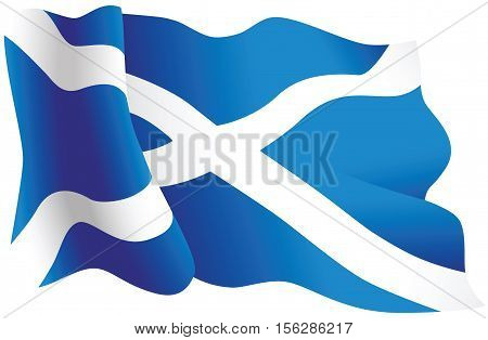 An illustration of the national flag of Scotland.