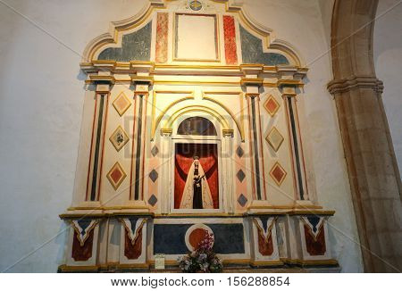 FUERTEVENTURA, PAIN - SEPTEMBER 16, 2015: Cathedral Church of Saint Mary of Betancuria in Fuerteventura Canary Islands Spain