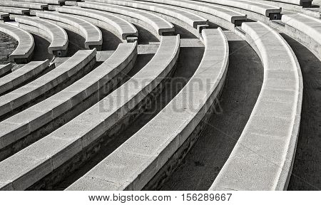 Stone amphitheater in Eilat - famous resort city in Israel