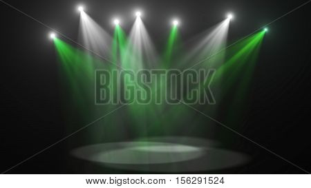 Concert music light stage (very high resolution)