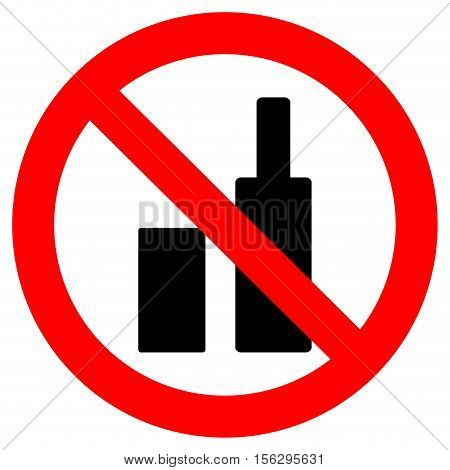 Ban bottles and tin bank. Ban carry bottle to football. Vector illustration