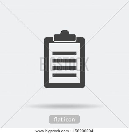 Clipboard Icon, Black Vector Is Type Eps10