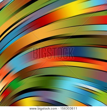 Colorful Smooth Light Lines Background. Red, Green, Blue, Yellow Colors. Vector Illustration.