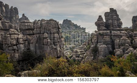 El Torcal de Antequera fascinating mountain rock formations in southern Spain