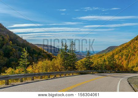 Cabot Trail Highway (Cape Breton Nova Scotia Canada)