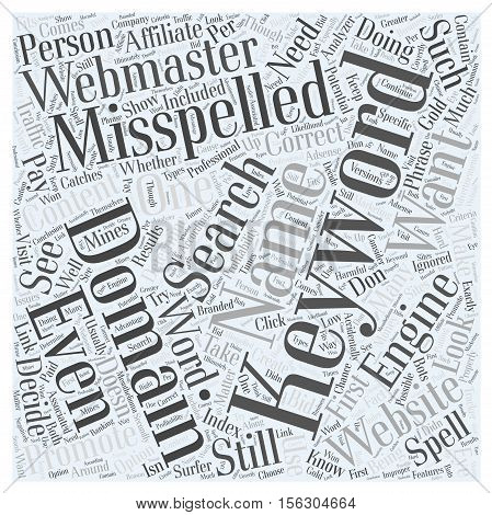 Misspelled Domain Names word cloud concept text