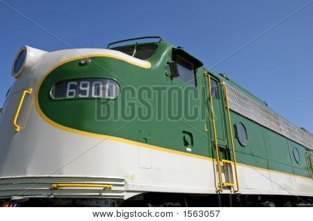 Vintage 1951 EMD E8A locomotive built by General Motors poster