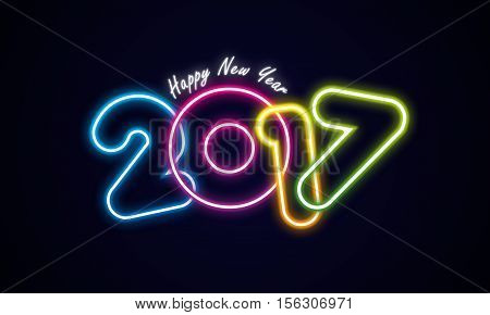 Happy New Year 2017 Celebration Greeting Card Design