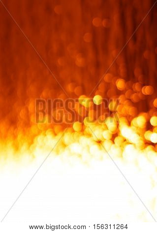 Vertical fire with orange bokeh background  hd