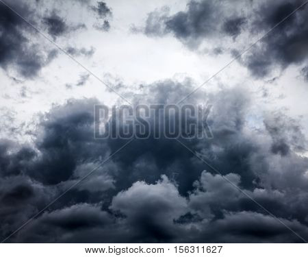 Storm Clouds closeup on the Sky Background