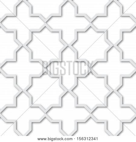 Seamless pattern of plastic grating background 3d. Ornament with stars