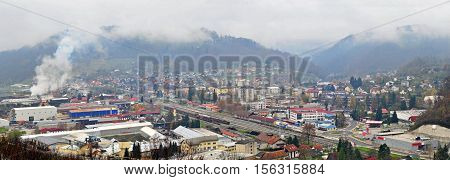 Panoramic view of Sevnica, Slovenia, town where Melania Trump grew up