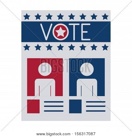 Paper icon. Vote president election government  and campaign theme. Isolated design. Vector illustration