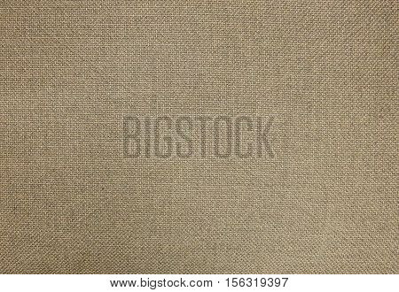 Textile Texture Close Up of Brown Cotton Fabric Pattern Background in Pastel Colors Tone.