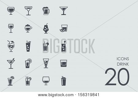 drink vector set of modern simple icons
