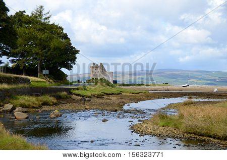 Lochranza castle on the Isle of Arran