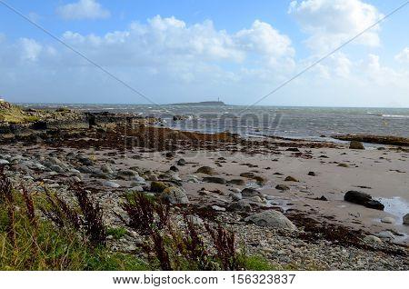 Kildonan beach, looking towards Pladda, Isle of Arran