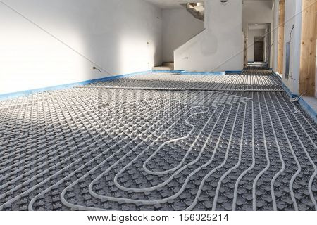 Construction: System floor radiant with polyethylene pipes