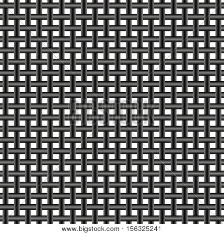 iron bars grate, seamless pattern, prison bars of metal reinforcement, vector
