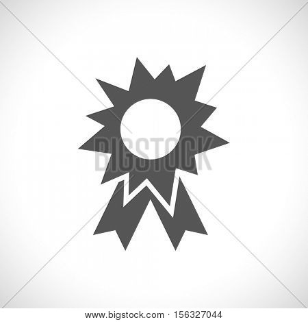 splash star with ribbon - medal icon