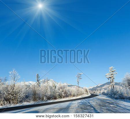 Winter Mountain Sunshiny Landscape (poland).