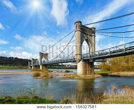 Suspension Bridge In Langeais, France.