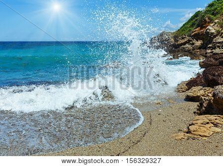 Summer Sunshiny Beach View (greece, Lefkada).