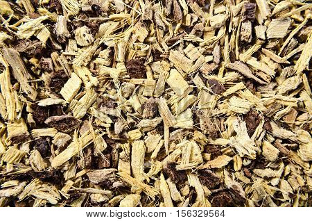Licorice root as an abstract background texture