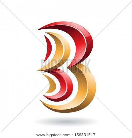 Design Concept of a Colorful Abstract Icon of Letter B, Vector Illustration