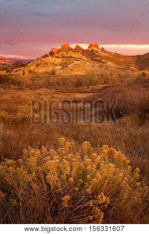 Beautiful light show at Devil's backbone Open Space in Loveland Colorado