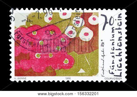 LIECHTENSTEIN - CIRCA 1996 : Cancelled postage stamp printed by Liechtenstein, that shows Painting of Ferdinand Gehr.