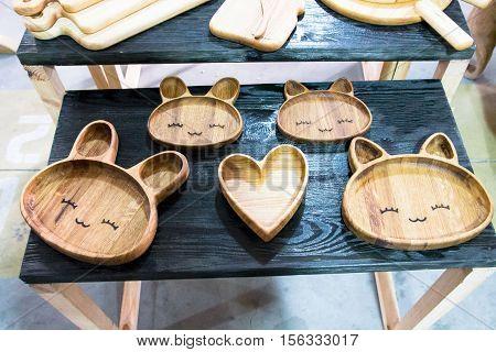 Unique Wooden Plate.