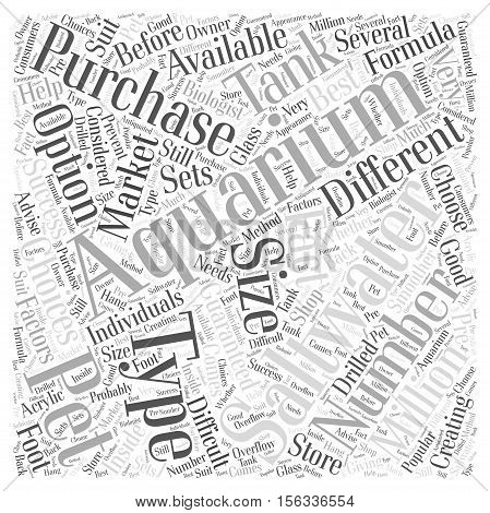 Saltwater Aquariums Purchasing an Aquarium word cloud concept