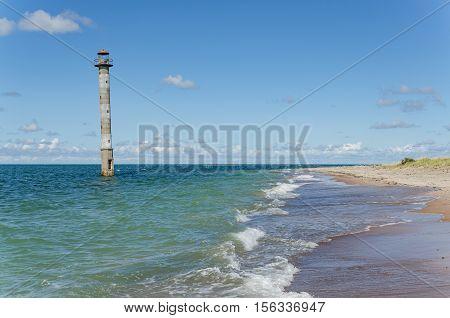 Kiipsaare leaning lighthouse, island of Saaremaa, Estonia.